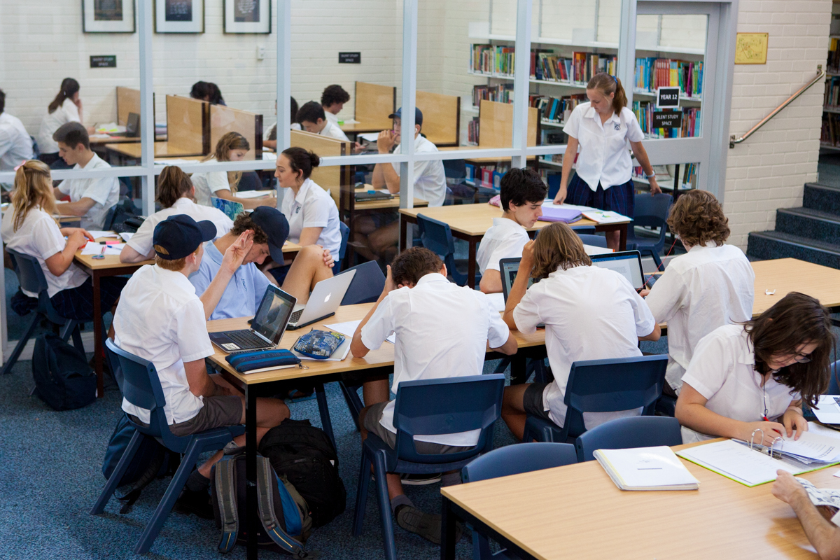 Dedicated study spaces in the Secondary Library