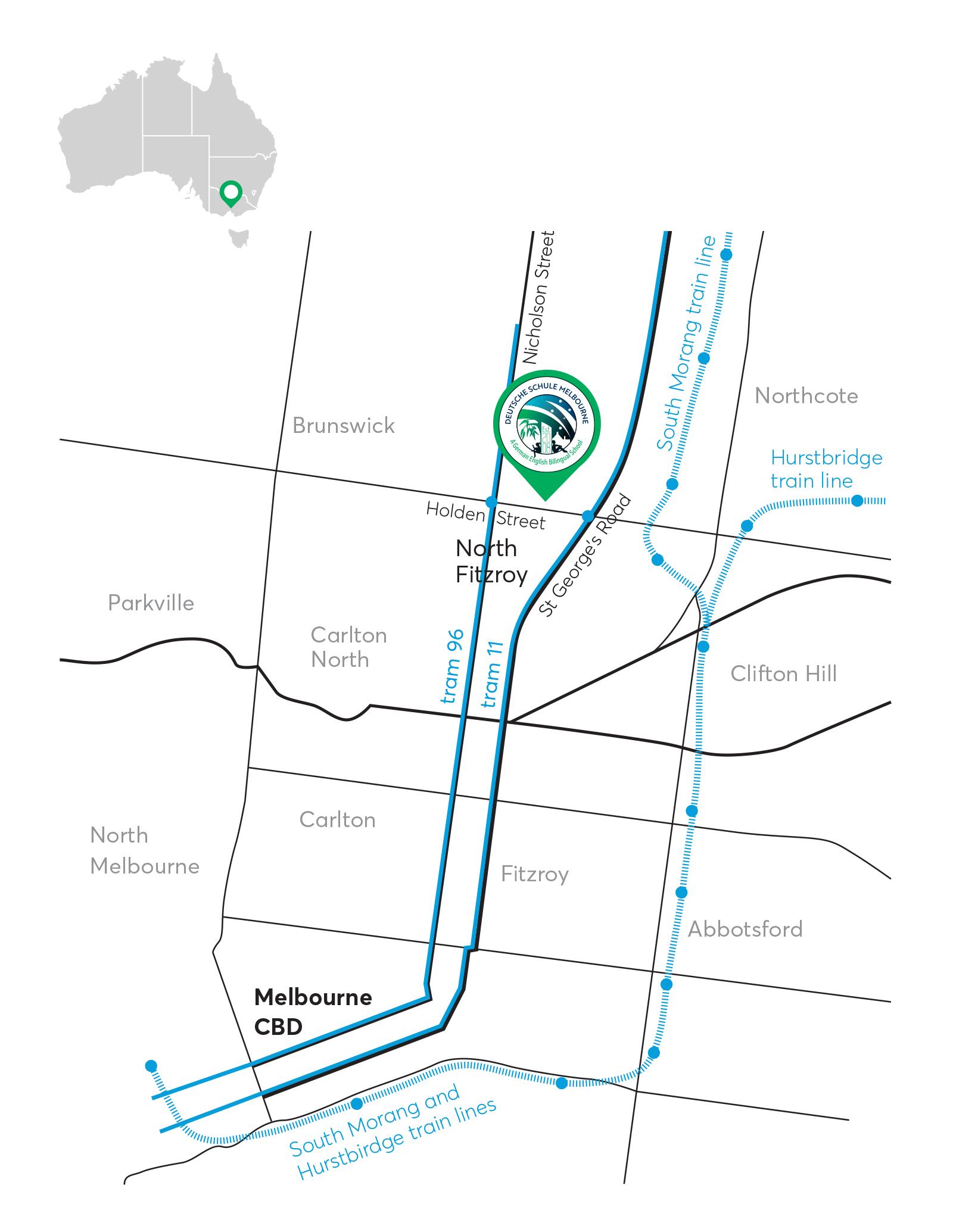 Map - Deutsche Schule Melbourne