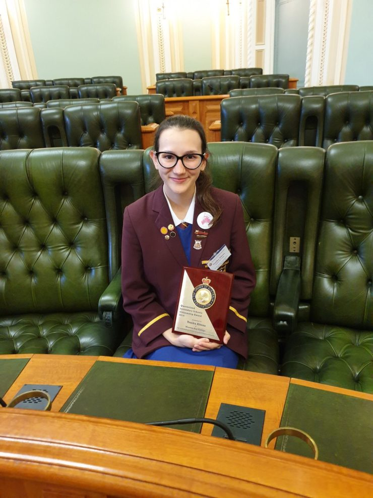 MBC student receives prestigious an Order of Australia Association award