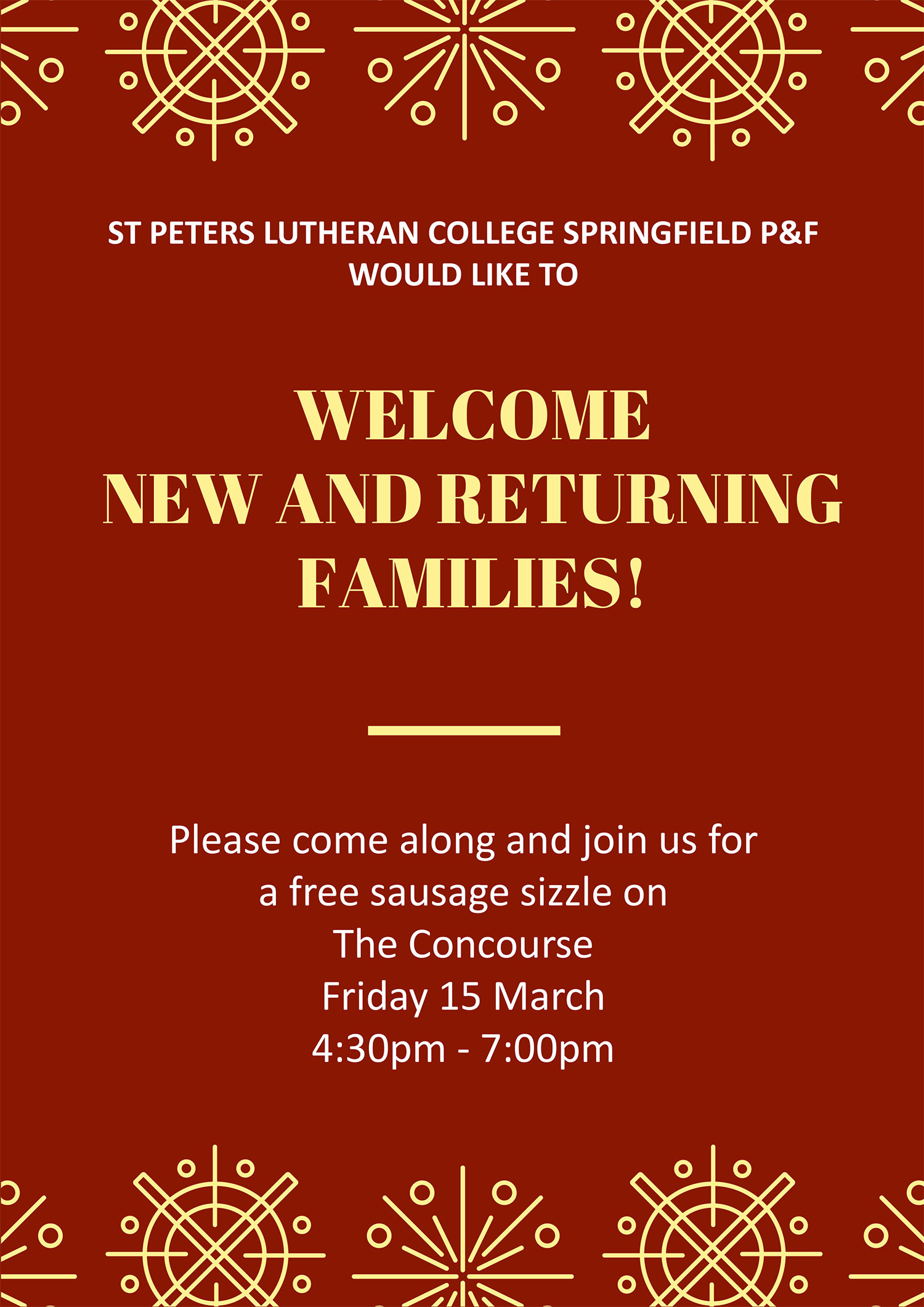 Welcome New & Returning Families